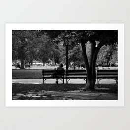 Evenings in the Park Art Print