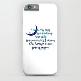 I raise my eyes to see the heavens - Les Miserables iPhone Case