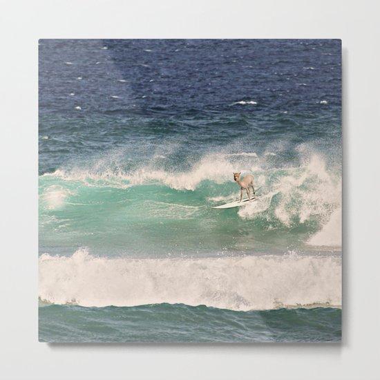 NEVER STOP EXPLORING - SURFING HAWAII Metal Print