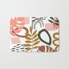 Abstract Floral Geo Bath Mat