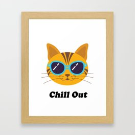 Cool Cat Kitty Gift T-Shirt Framed Art Print
