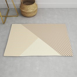 Geometric lines in Shades of Latte and Coffee Rug
