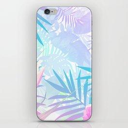 Pastel Rainbow Tropical Paradise Design iPhone Skin
