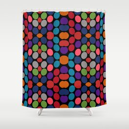 So Much Color Abstract Shapes Multi Shower Curtain