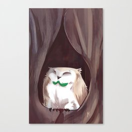 Rowlet Perched Canvas Print