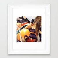 "vogue Framed Art Prints featuring ""Vogue"" by C A R E Y  M O R T O N"