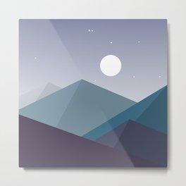 Midnight Vibes Metal Print