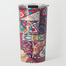 Hand drawn background. Islam, Arabic, Indian, ottoman motifs. Travel Mug