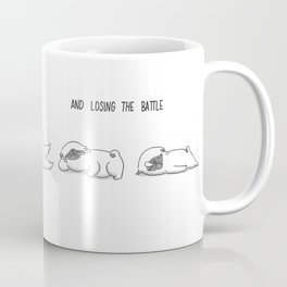 fighting against sleep and losing the battle Coffee Mug