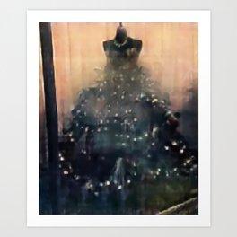 xmas dress Art Print