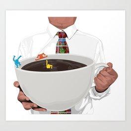 KeithHaring coffee Art Print