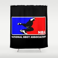 nba Shower Curtains featuring NBA National Bboy Association by Funky House