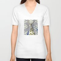 john snow V-neck T-shirts featuring Snow worlds by Tanja Riedel