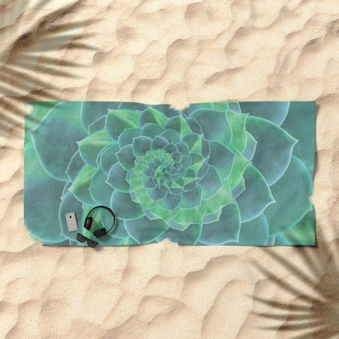 Succulent Rhapsody Beach Towel