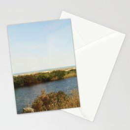 The pond by the Ocean Stationery Cards