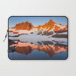 Broken Top Mountain Sunrise at Alpine Lake Laptop Sleeve