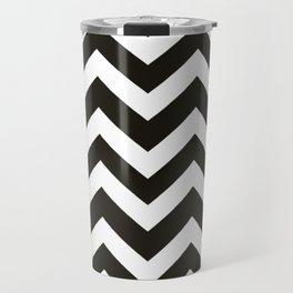 Black chocolate - black color - Zigzag Chevron Pattern Travel Mug