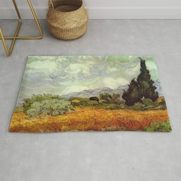 Vincent van Gogh's Wheat Field with Cypresses Rug
