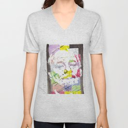 """Bill F. Murray"" Original Watercolor by RICK LONG Unisex V-Neck"