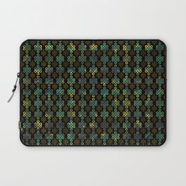 Endless Knot Pattern - Gold and Marble Laptop Sleeve