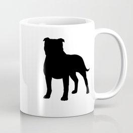 Staffordshire Bull Terrier Silhouette Coffee Mug