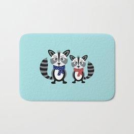 Raccoon buddies Bath Mat