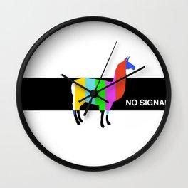 No Signal Llama Wall Clock