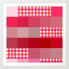 Pixels And Gingham II Art Print