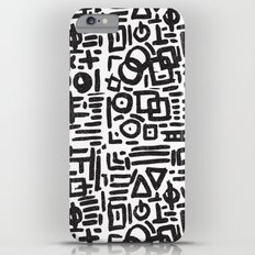 ABSTRACT 4 - BLACK & WHITE iPhone 6 Plus Slim Case