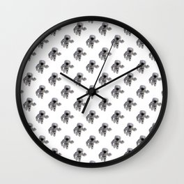 Seamless Background Astronaut Wall Clock