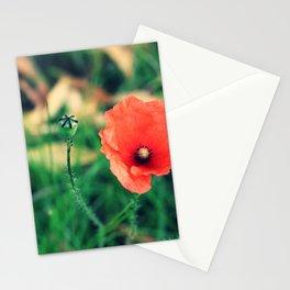 Czerwone Maki - three Stationery Cards