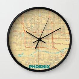 Phoenix Map Retro Wall Clock