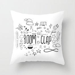 BOOM CLAP Throw Pillow