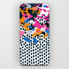 Kenzi - abstract painting minimal hot pink blue dots color palette boho hipster decor nursery iPhone Skin