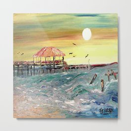 Can't Get Enough of Mississippi Coast  print of painting by Teresa Johnson Metal Print