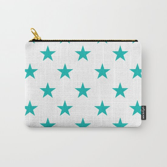 Stars (Tiffany Blue/White) Carry-All Pouch