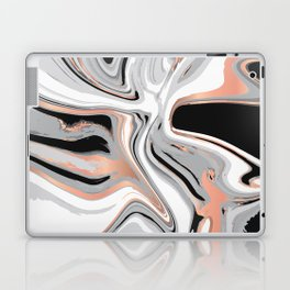 Liquid Marble with Copper Lines 015 Laptop & iPad Skin