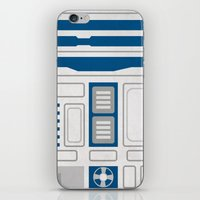 r2d2 iPhone & iPod Skins featuring R2D2 by Alison Lee