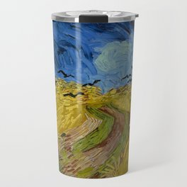 Wheatfield with Crows Painting by Vincent van Gogh Travel Mug
