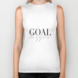 GOAL DIGGER SIGN, Success Quote,Marble Decor,Girls Room Decor,Fashion Print,Modern Art Biker Tank