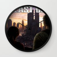 the last of us Wall Clocks featuring The Last of Us by Icemanire