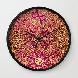 Rubino Mandala Seamless Pattern Wall Clock