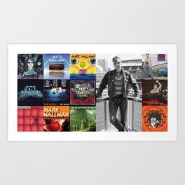 Mark Mallman - Album Compilation Art Print