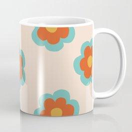 70s Retro Flowers  Coffee Mug