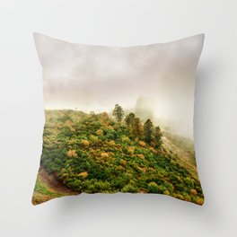 Autumn valley in the cloud Throw Pillow