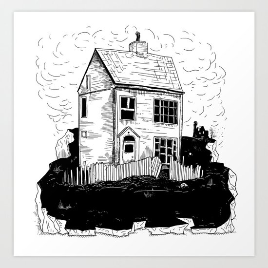 A House in Newfoundland Art Print