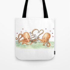 Octopus Valentine  Tote Bag