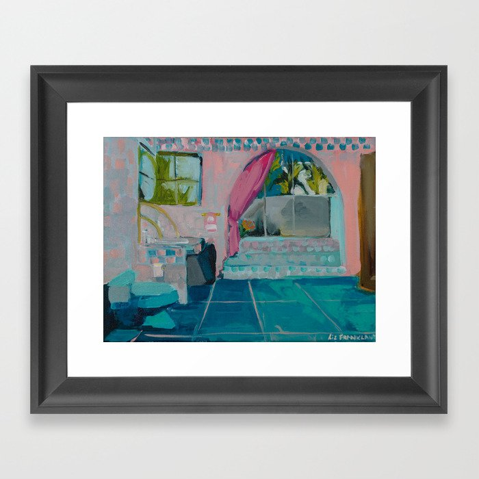 Golden Girls bathroom Framed Art Print