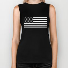 USA flag - HiDef Super Grunge Patina Biker Tank