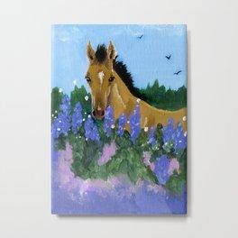 Flower Foal Metal Print